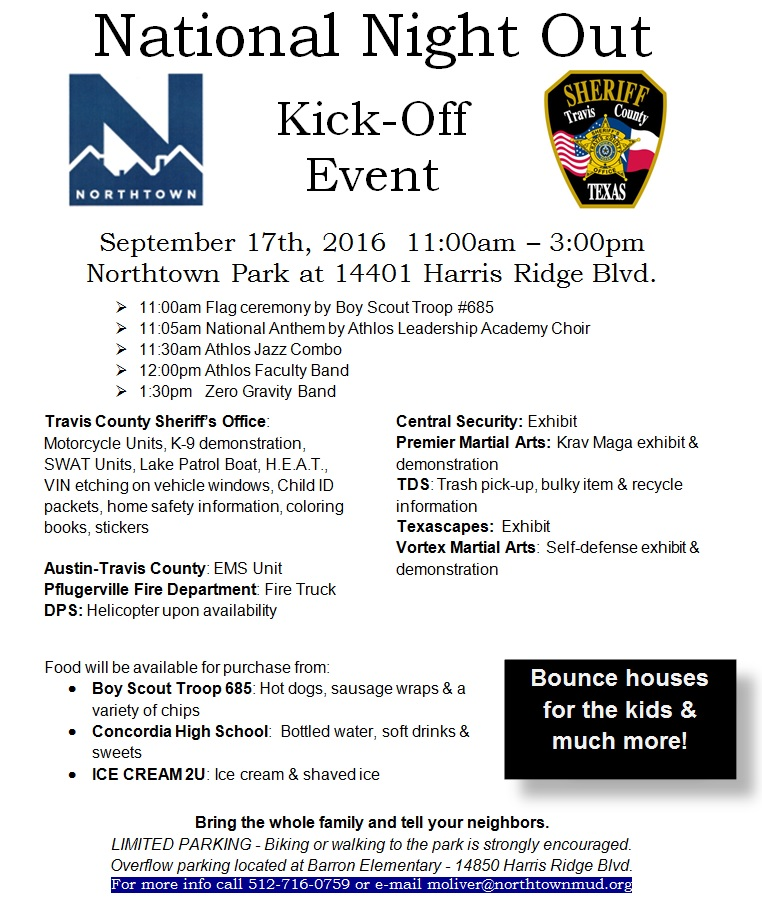 2016 National Night Out Kick-Off Event