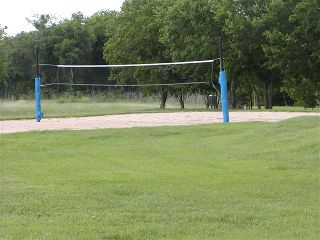 Volleyball court in Stoney Creek park.