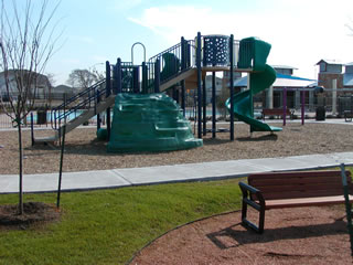 HOA-owned park at the Brookfield subdivision swimming pool.